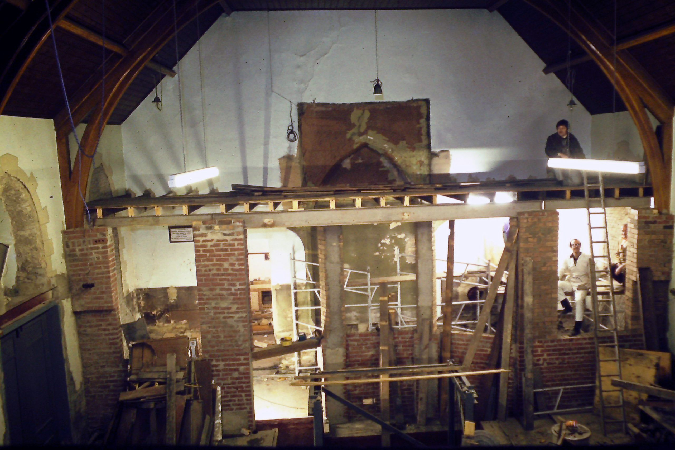 Organ Chambers Under Construction 1978