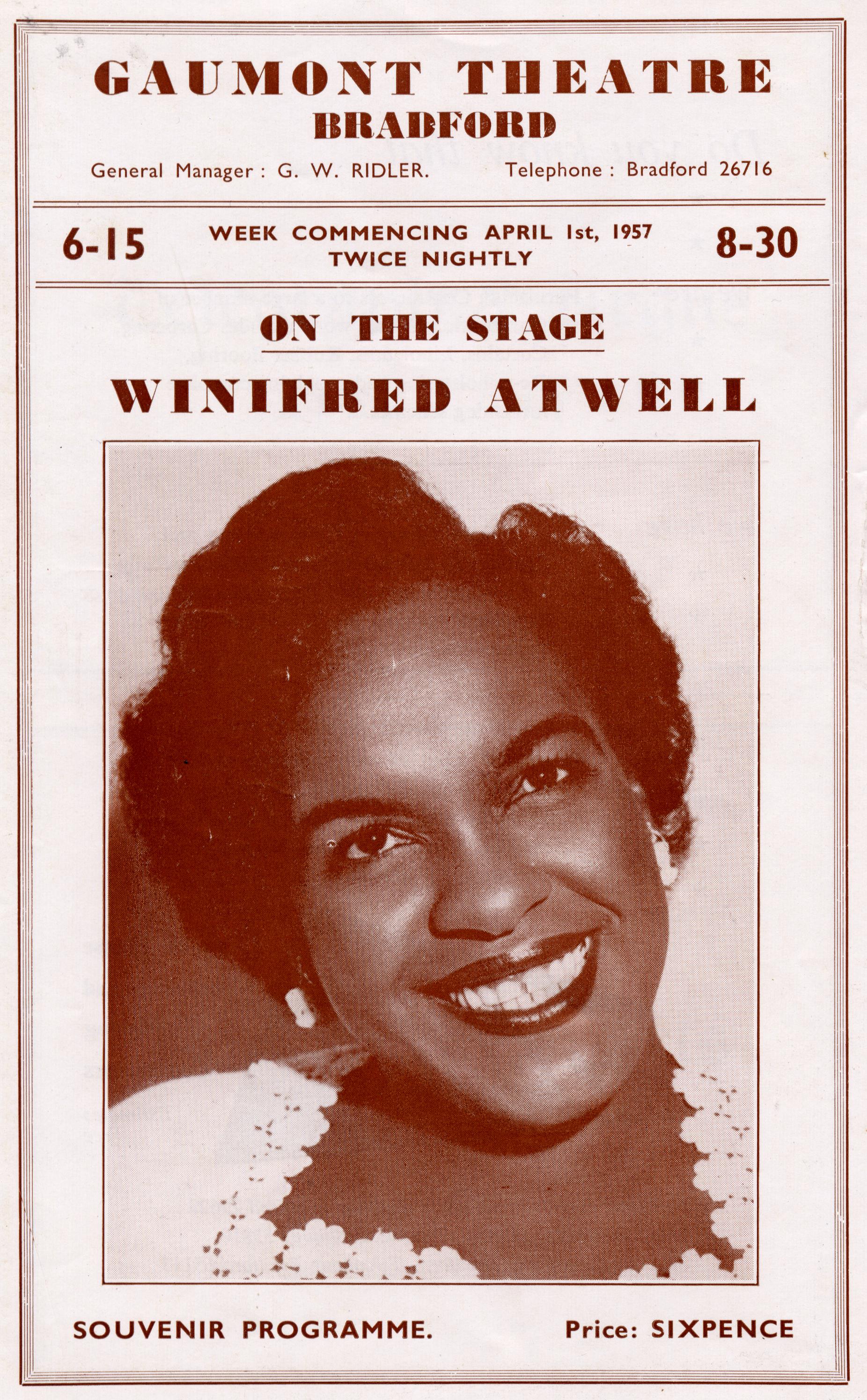 Winnie Atwell Programme 1957